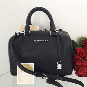 NWT MICHAEL KORS LEATHER KIRBY MEDIUM SATCHEL BAG